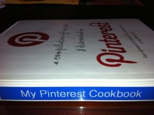 A downloadable cookbook full of Pinterest recipes! Love it.