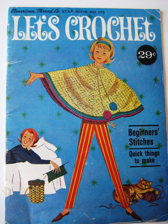Vintage Crochet Pattern/Instruction Booklet  by TooTooKute on Etsy, $4.50