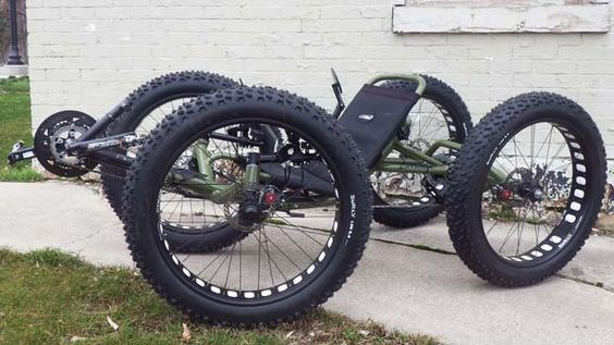 OOOOH! A NEW toy! Daddy want.  Army Green Quad: Custom Catrike Cat-4 Quad by UT Custom from Utah Trikes