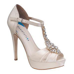 DAVID TUTERA platform wedding shoes now at MyGlassSlipper.com!