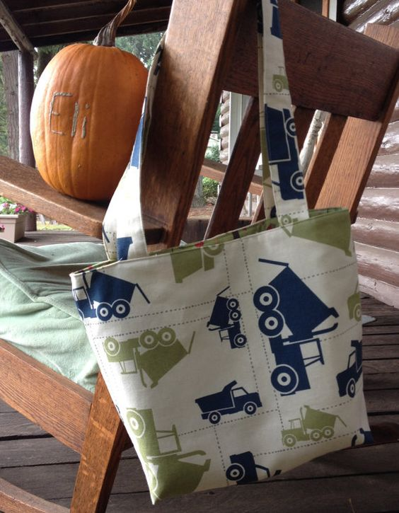 truck tote for my mama for me by lucyjean on Etsy
