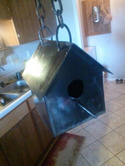 Metal birdhouse i hade to make based off a blueprint welding - new blueprint book for welders