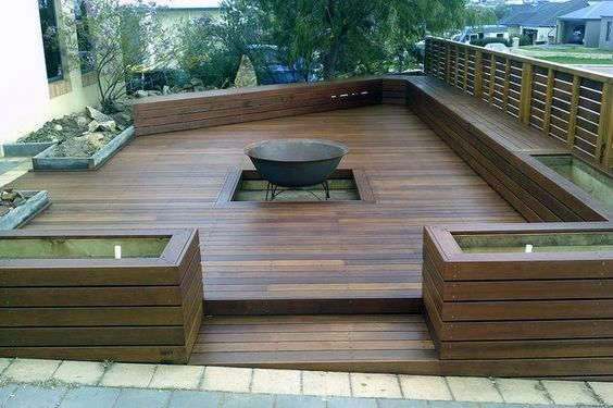 Top 50 Best Deck Fire Pit Ideas Wood Safe Designs Deck Fire