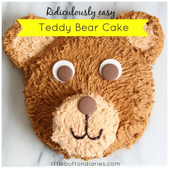 teddy bear cake little button diaries                                                                                                                                                     More