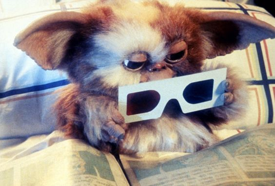 """I've been obsessed with """"The Gremlins"""" lately because they've been on TV a lot! Gizmo! ahhh so cute!"""