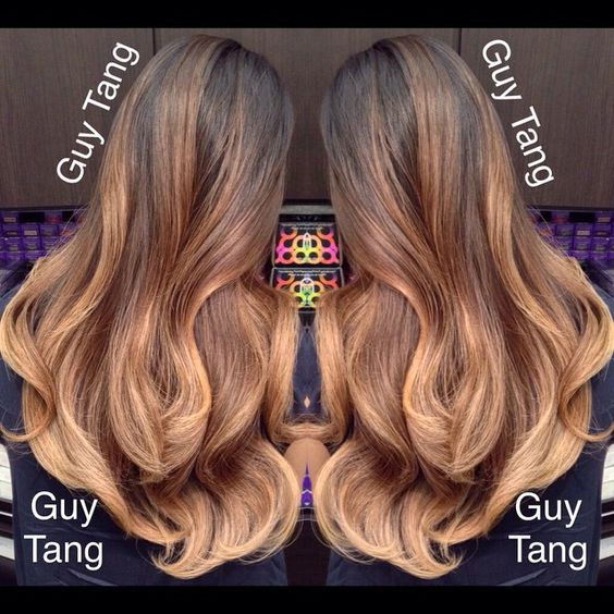 High contrast ombre by Guy Tang #balayage #ombre #babylights #sombre