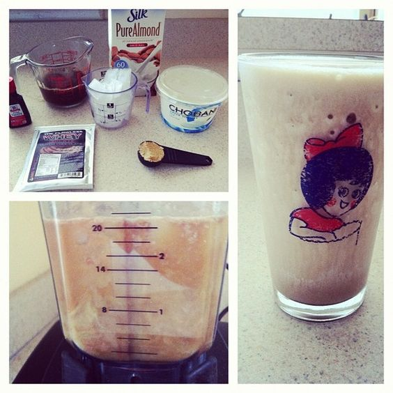 Frozen Protein Coffee Coolata! :)   165 cals, 28 grams of protein, 2.5 grams of fat.