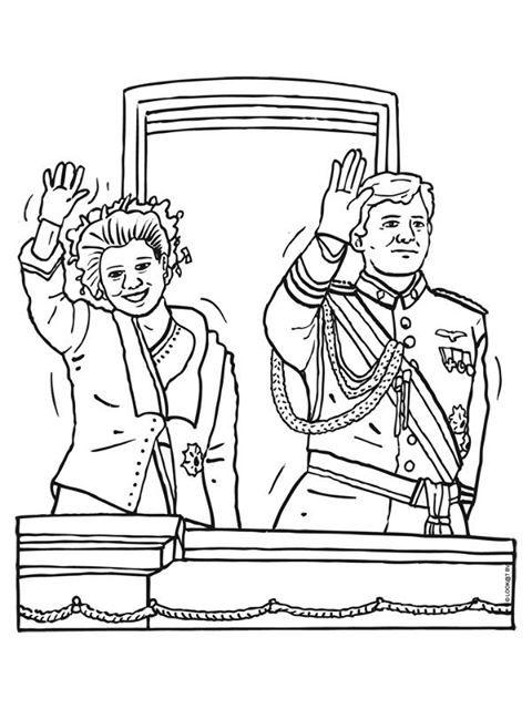 kleurplaat  Koningsdag kleuters / King's day preschool ...