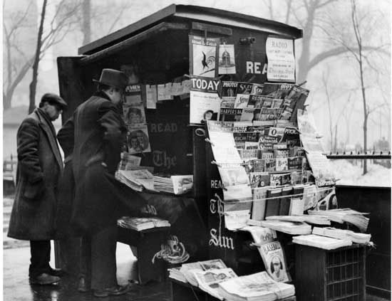 Image result for empty newsstands brittain october 1936