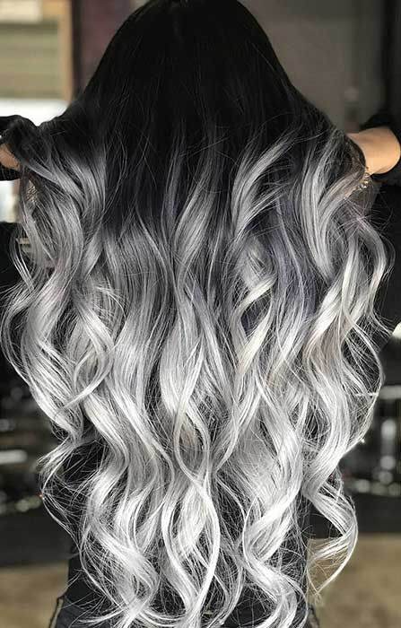 23 Silver Hair Color Ideas Trends For 2018 Page 2 Of 2 Stayglam Grey Ombre Hair Hair Styles Cool Hair Color