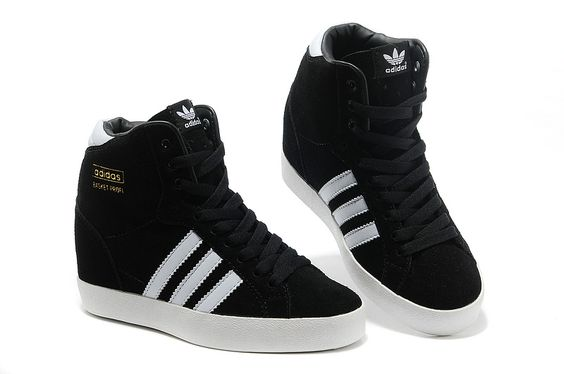 Adidas Originals Increase Womens High Heeled Shoes Black -1836