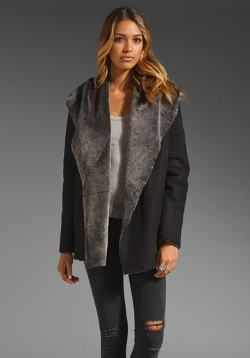 Hooded Shearling Coat | Coats Clothing and Shearling coat