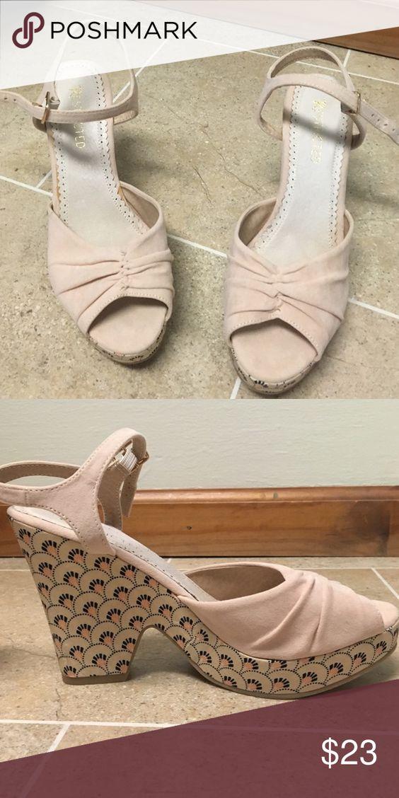 Blush Suede Sandal Brand Restricted 4 inch heel Shoes Platforms