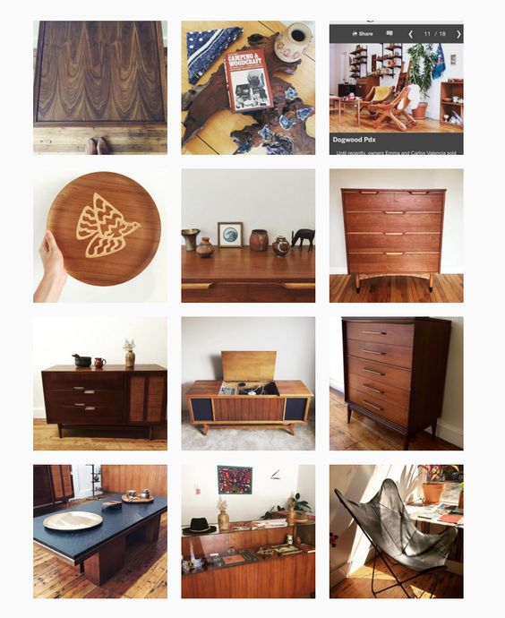 Dogwood Pdx Vintage Modern Shop In Old Town Chinatown, Portland Oregon.  Refinished Mid Century