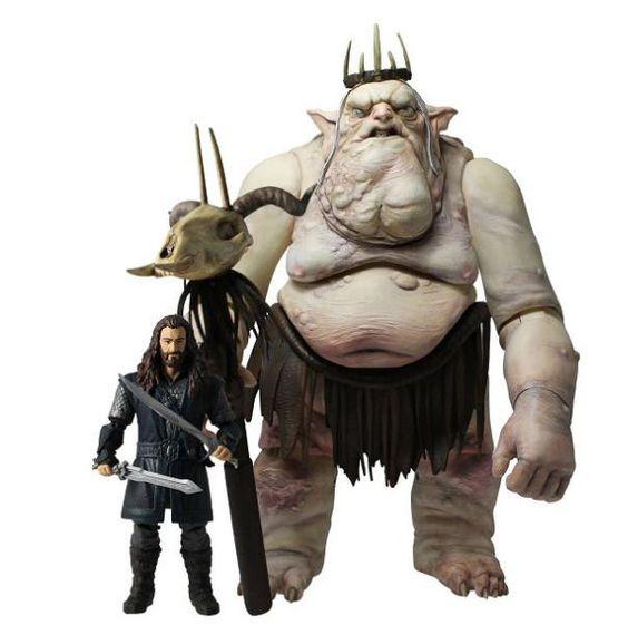 Pack 2 figuras El gran Trasgo y Thorin Escudo de Roble. El Hobbit: un viaje inesperado
