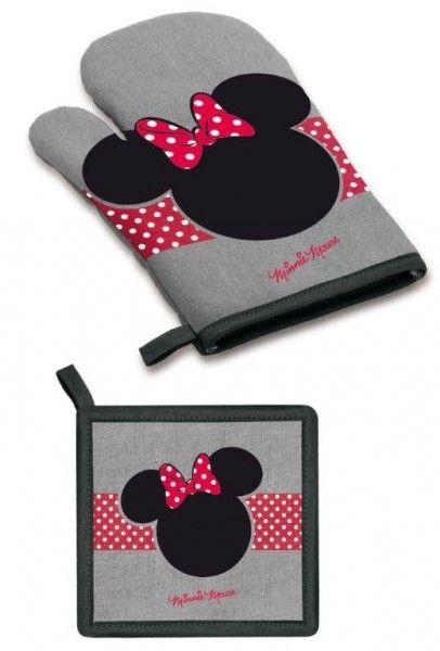Disney Minnie Set da Cucina Presina e Guanto da Forno, Accessori Cucina Disney - TocTocShop.com -