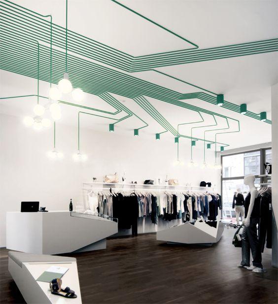 Organizar el cableado de manera que sea parte del diseño .... genial!