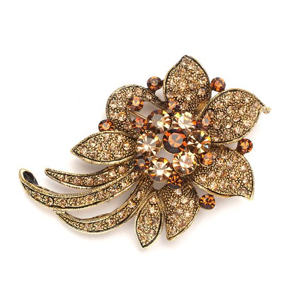 Light Colorado Topaz Floral Special Occasion Pin