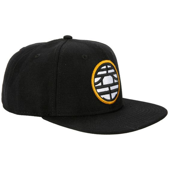 Hot Topic Dragon Ball Z King Kai Kanji Snapback Hat (£12) ❤ liked on Polyvore featuring accessories, hats, multi, snap back hats, snapback hats, ball hats and dragon hat