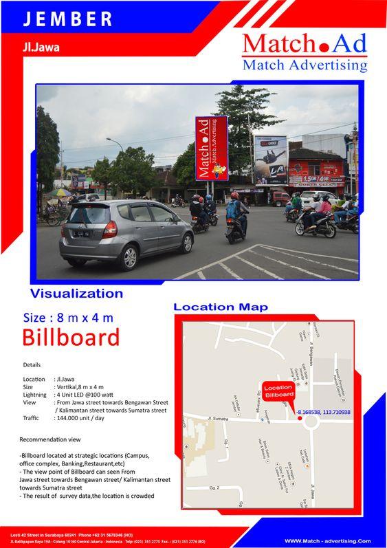 Jember, Jl. Jawa - Billboard 8x4