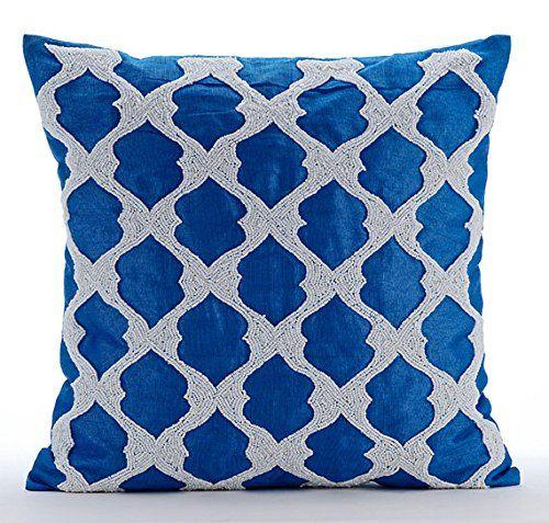 Royal Blue Pillow Cases, Beaded Lattice Trellis Pattern A... https://www.amazon.com/dp/B016H8TX7Y/ref=cm_sw_r_pi_dp_x_QnHaybPVHPMF4
