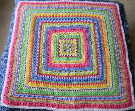 Crochet Baby Blanket Patterns Worsted Weight Yarn : Faeries baby blanket ~ Mixed-stitch sampler, free pattern ...