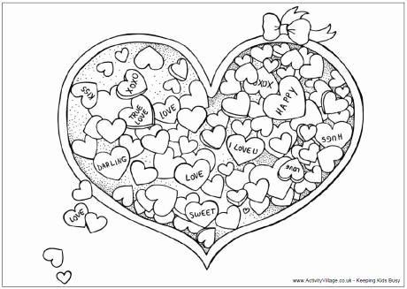 Valentine Heart Coloring Page Schone Valentinstag Herz Candy Malvorlagen Printable Valentine Coloring Page Candy Col Sevgililer Gunu Sevgililer Mandala