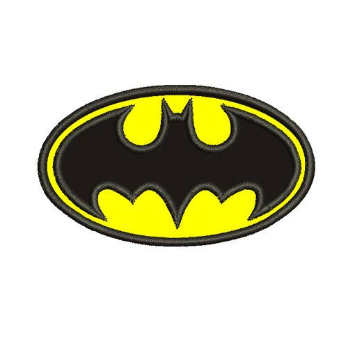 Batman Applique 4x4 5x7 Embroidery Machine by EmbroideryKing