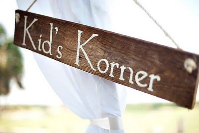 Don't forget to designate a kid-friendly corner if children attend the reception.