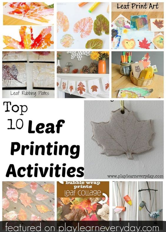 The most fun ways to do leaf printing activities with kids this autumn.