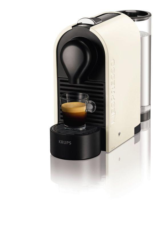 Nespresso U Creamy white (beige) XN2501 P4 Krups - Cafetera monodosis (19 bares, Máquina Táctil, Depósito modular), Color blanco perla: Amaz...