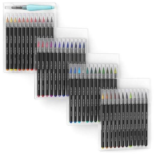 Real Brush Pens Set Of 48 Brush Pen Pen Sets Watercolor