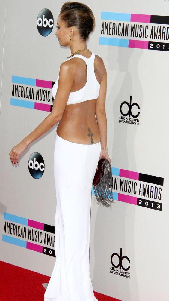 Nicole Ritchie in a sexy white dress