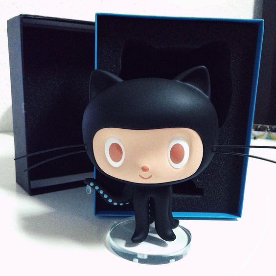 Have this cutie pie keeping me company while I work from now on.  Made with  by @github #octocat #github #code by wailingtam