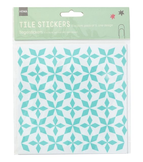 Mint stickers and tuin on pinterest - Stickers imitation carrelage ...