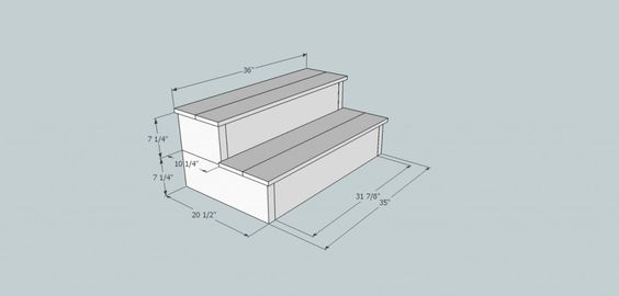 Hot tub steps 1024x491 how to build new steps for your hot for Abri mural pompano