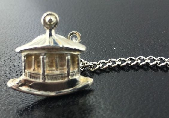 Men's sterling silver bandstand tie tack, 4.3 grams in Jewelry & Watches, Fine Jewelry, Fine Pins & Brooches | eBay