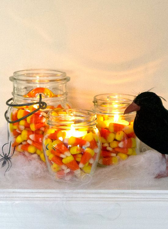 Candy Corn Tea Lights
