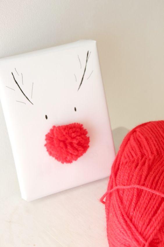 DIY: empaquetado creativo. Cómo hacer un paquete regalo con un pompom