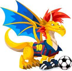 Dragon City Soccer Dragon Adult