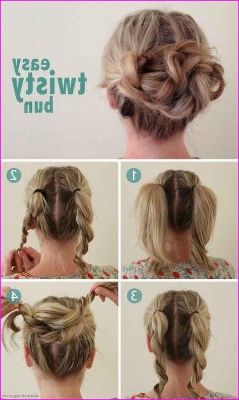 40 Cute Hairstyles Step By Step Tutorials For Long Hair Short Hair Models Short Hair Styles Easy Medium Length Hair Styles Easy Hairstyles