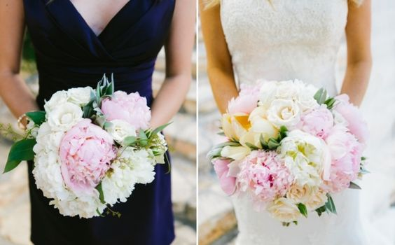 Stunning bridal bouquet (right) with peonies roses tulips soft pink blush and buttery ivory goregous! Whim Florals Ian's Chapel Camp Lucy Wedding| Jillian + David | Al Gawlik