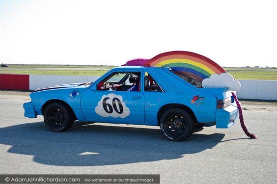 Rainbow Pony Car