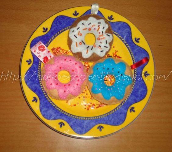 DONUTS , Miniaturas y muñecas, Figuras en miniatura, Otros, Curioso, Comida y bebida, Dulces