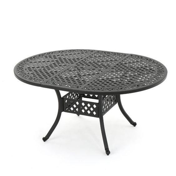 Rosemont Extendable Metal Dining Table Expandable Dining Table Metal Dining Table Dining Table Black