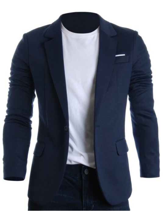 FLATSEVEN Mens Slim Fit Casual Premium Blazer Jacket | Mens semi