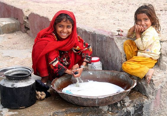 Our lives become reflections of the happiness we've brought to others.  (Zikri Balochi girls)