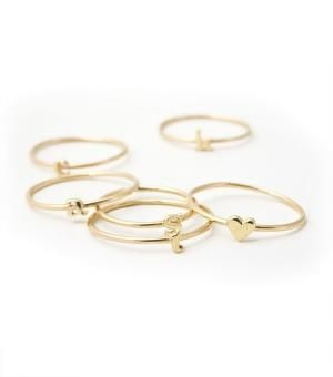 delicate rings...LOVE.: Stackable Rings, Catbird Alphabet, Alphabet Rings, Catbird Ring, Stackable Initial, Initial Rings, Bridesmaid Gift