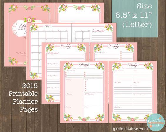 Printable 2015 Planner Calendar Organizer by GoodiePrintable