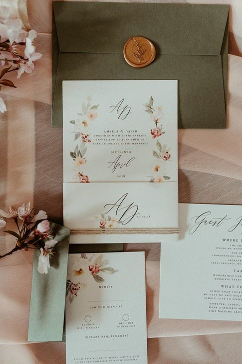 43 Beautiful Floral Wedding Invitation Ideas To Have Today In 2020 Bird Wedding Invitations Floral Wedding Invitations Wreath Wedding Invitations